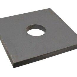 Мебель для учреждений - Плита П-1 под стойки дорожных знаков 1000x1000x100 (отверстие D-76 мм), 0