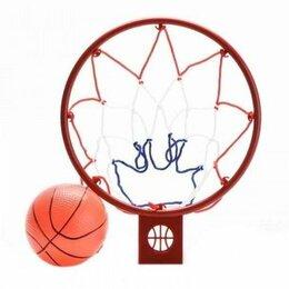 Стойки и кольца - 1toy Баскетбольная рама с надувным баскетбольным мячом 25*20, сетка, 0