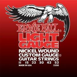 Струны - 2208 Ernie Ball Nickel Wound Light никель 11-52. Доставка, 0