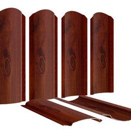 Заборы, ворота и элементы - Штакетник металлический Фигурный 110мм Каштан Красный 2-х сторонний Printech..., 0