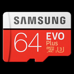 Карты памяти - Карта памяти Samsung EVO microSDXC 64Gb Class 10 UHS-I U1, 0