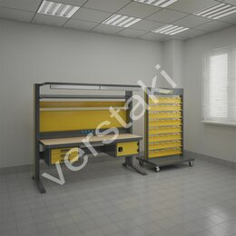 Мебель для учреждений - Верстак передвижной гефест-вс-000-эп-к2, 0