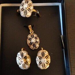 Комплекты - Золотой комплект с бриллиантами, 0