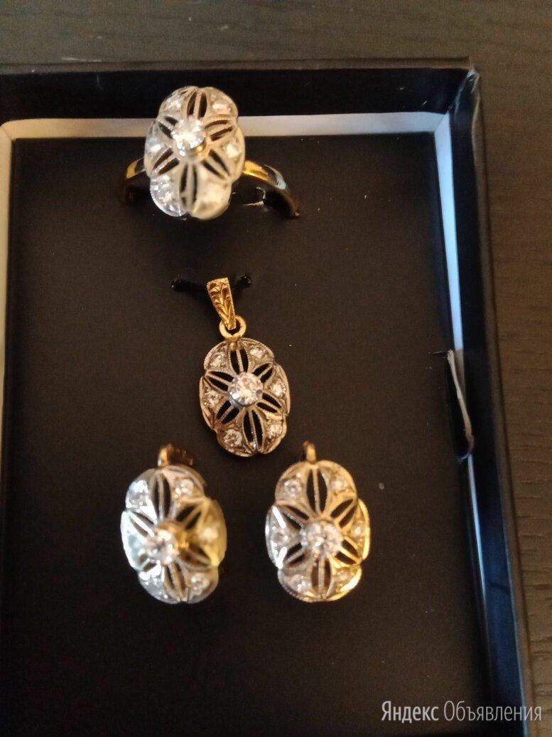 Золотой комплект с бриллиантами по цене 220000₽ - Комплекты, фото 0