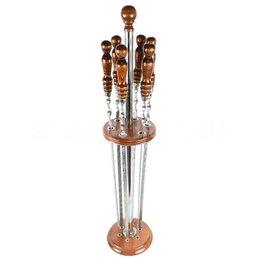 Шампуры - Подставка с шампурами с деревянной ручкой, 0