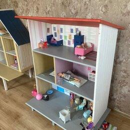 Аксессуары для кукол - Кукольный домик с односкатной крышей, 0