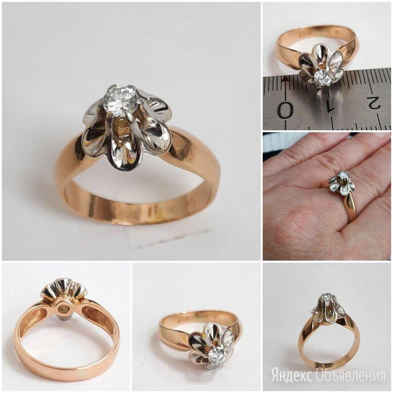 Золотое кольцо Московская роза с брилл, 19 по цене 43000₽ - Кольца и перстни, фото 0