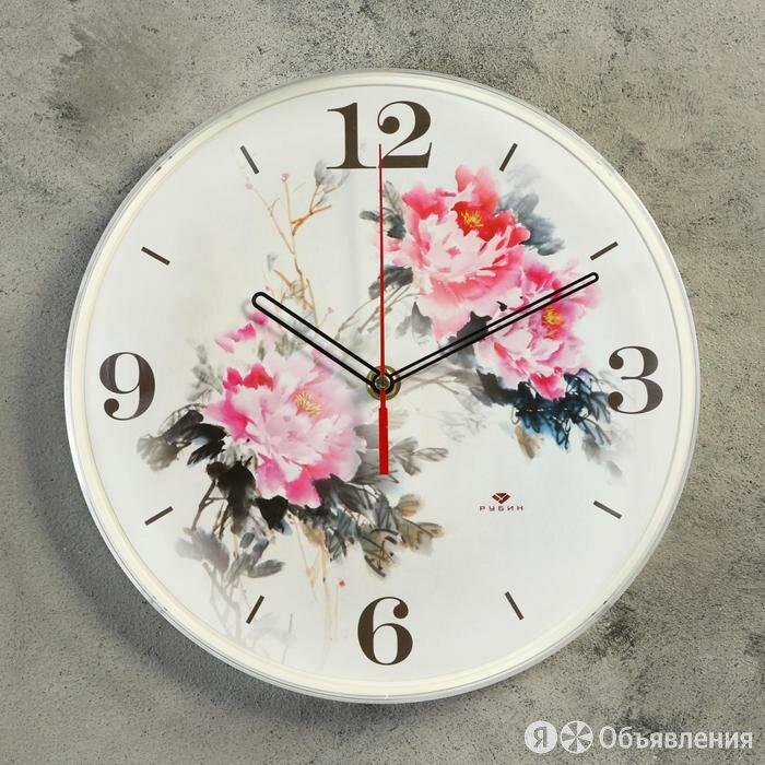 "Часы настенные круглые ""Цветы"", 25 см по цене 778₽ - Часы настенные, фото 0"