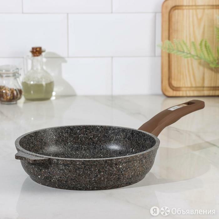 Сковорода Premium, d22 см, цвет коричневый по цене 1785₽ - Прочее оборудование, фото 0