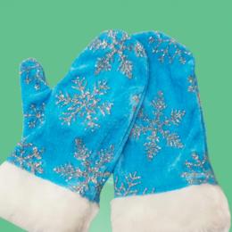 Дизайн, изготовление и реставрация товаров - Варежки Снегурочка голубые ЕК-ВАРСНЕ-2, 0