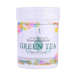 Маски - Маска альгинатная успокаивающая с экстрактом зеленого чая (банка) Green Tea ..., 0