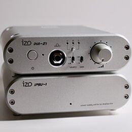 Цифро-аналоговые преобразователи - ЦАП + усилитель для наушников IZO iHA-21 + PSU, Япония, 0