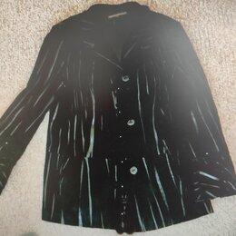 Куртки - Куртка замшевая с лазерной обработкой, 0