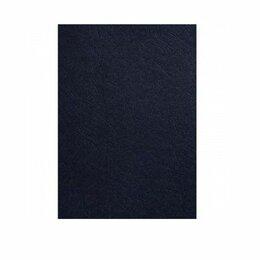 Обложки для документов - Обложка  (кожа)  А4  230 г/м  темно-синяя  (100), 0