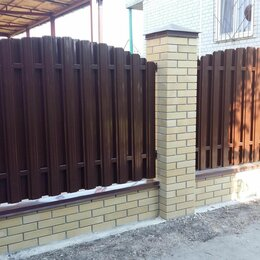 Заборы, ворота и элементы - Штакетник металлический для забора в г. Крымск, 0