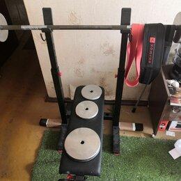 Другие тренажеры для силовых тренировок - Штанга и скамья со стойками., 0