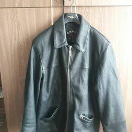 Куртки - Покрашенная кожаная куртка мужская, 0