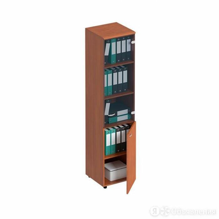 Шкаф для документов узкий со стеклянной тонированной дверью ФС 986 Матрица по цене 20840₽ - Шкафы для документов, фото 0