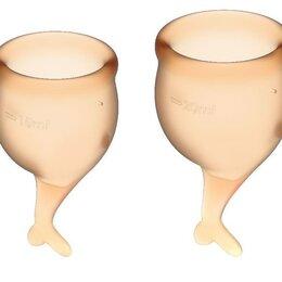 Подгузники - Набор оранжевых менструальных чаш Feel secure Menstrual Cup Оранжевый, 0
