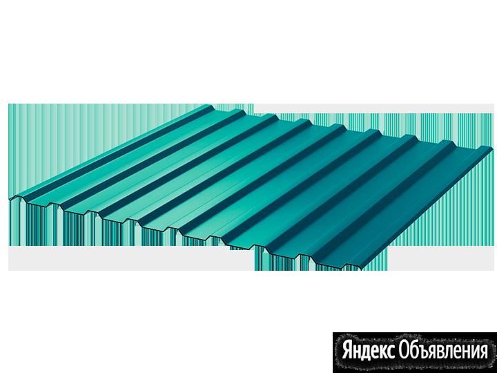Профнастил полимер СП20 0.4 1100/1150 ПЭ RAL5021 морская волна по цене 590₽ - Кровля и водосток, фото 0