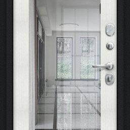 Входные двери - Дверь входная Флэш 119.Б15 NEW Букле черное/Bianco Veralinga, 0
