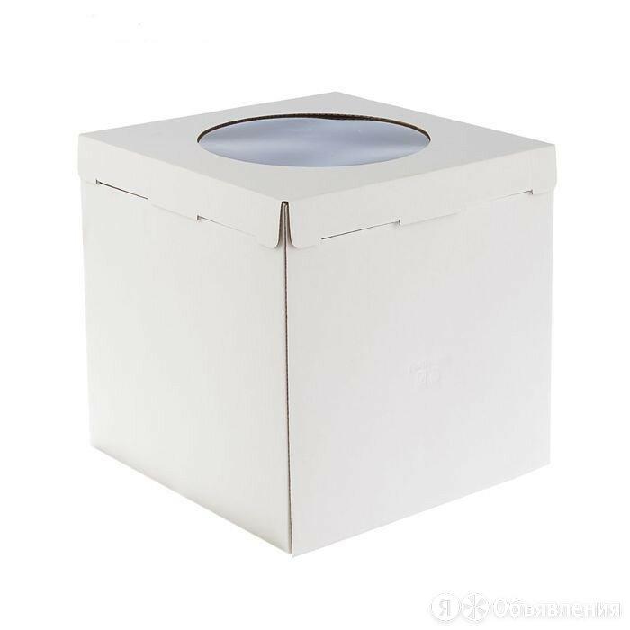 """Короб картонный белый с окном """"Pasticciere"""", 32*32*35 см. по цене 87₽ - Упаковочные материалы, фото 0"""