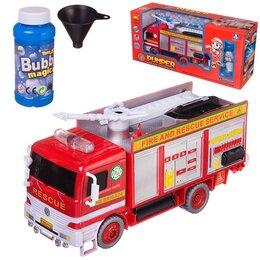 Мыльные пузыри - Мыльные пузыри Junfa Пожарная машина на батарейках, 0