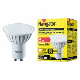 Лампочки - Лампа светодиодная FR PAR16 5Вт GU10 3000К 380Лм 50х57мм Navigator, 0