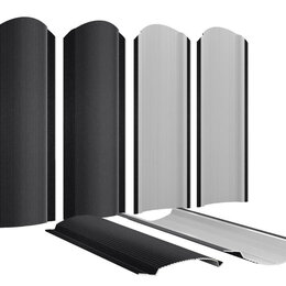 Заборы, ворота и элементы - Штакетник металлический Фигурный 110мм RAL9005 Черный Стальной Бархат т0.50м..., 0