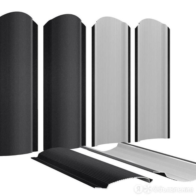 Штакетник металлический Фигурный 110мм RAL9005 Черный Стальной Бархат т0.50м... по цене 186₽ - Заборы, ворота и элементы, фото 0