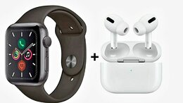 Умные часы и браслеты - Apple watch 6 + AirPods Pro, 0