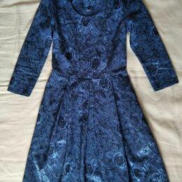 Платья - Платье нарядное синее р-р 40-42, 0