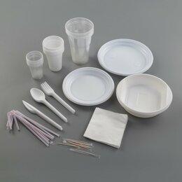 Наборы для пикника - Набор одноразовой посуды «Биг-Пак №1», 6 персон, цвет белый, 0