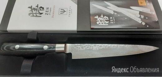 Нож для тонкой нарезки 15 см, серия Zen, YA35516, YAXELL, Япония по цене 8000₽ - Ножи кухонные, фото 0