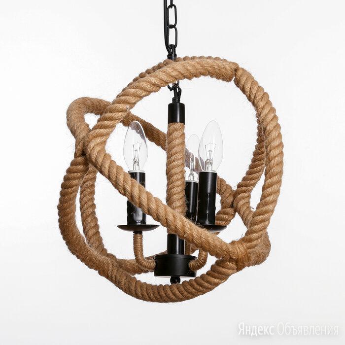 """Люстра """"Плетение"""" 3x40Вт E14 черный 35х35х135 см по цене 11450₽ - Настенно-потолочные светильники, фото 0"""