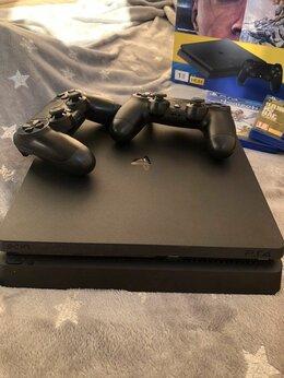 Игровые приставки - Sony Playstation PS4 Slim 1Tb + 2 Dualshock 4 V2 , 0