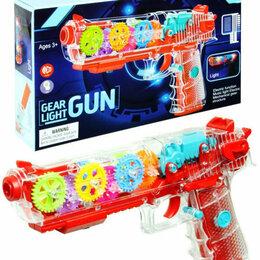 Игрушечное оружие и бластеры - Прозрачный пистолет звук, свет, 0