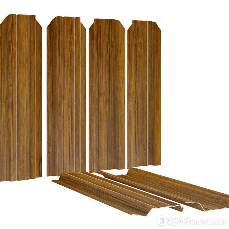 Штакетник металлический Узкий 85мм под дерево Орех 2-х сторонний Printech Ко... по цене 199₽ - Заборы, ворота и элементы, фото 0