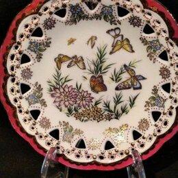 Декоративная посуда - Антикварная тарелка ажурная Delicate, 0