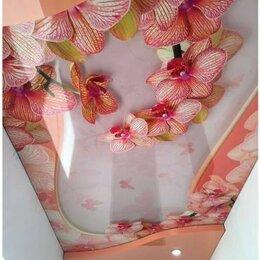 Потолки и комплектующие - Натяжные потолки с фотопечатью орхидея, 0