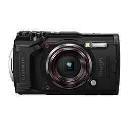 Экшн-камеры -  Olympus Цифровая фотокамера Olympus TG-6 Black, 0