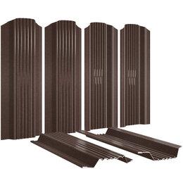 Заборы, ворота и элементы - Евроштакетник Плетенка RAL8017/8017 МАТОВЫЙ Шоколад 2-х сторонний под Стальн..., 0