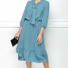 Платья - Платье 12150 LENATA бирюзовое в горох Модель: 12150, 0