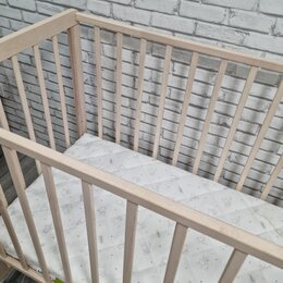 Кроватки - Гандылян ванечка кроватка 2 уровня с матрасом, 0