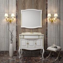 Раковины, пьедесталы - Мебель для ванной Opadiris Лаура 100 белая с патиной, 0