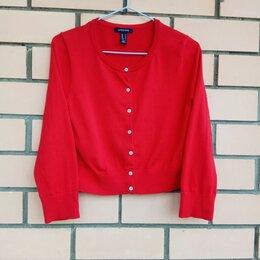 Блузки и кофточки - Кофта красная хлопок, 0