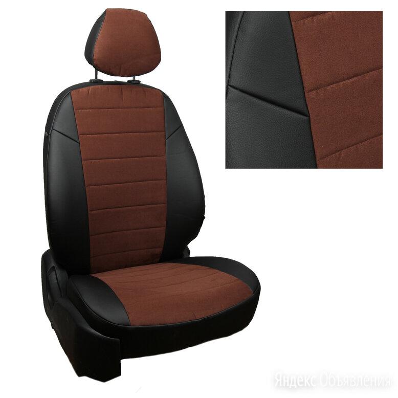 Чехлы из алькантары на Peugeot 4007 (2007-2012) Черный + Шоколад по цене 7500₽ - Аксессуары для салона, фото 0