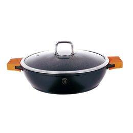 Сковороды и сотейники - Сотейник с крышкой 5,2л/32см Berlinger Haus Granit Diamond Line BH-1110, 0