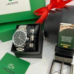 Подарочные наборы - Набор лакост для мужчин часы и ремень, 0