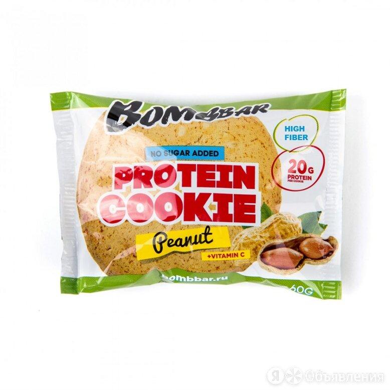 Протеиновое печенье Bombbar АРАХИС, 60г по цене 90₽ - Продукты, фото 0